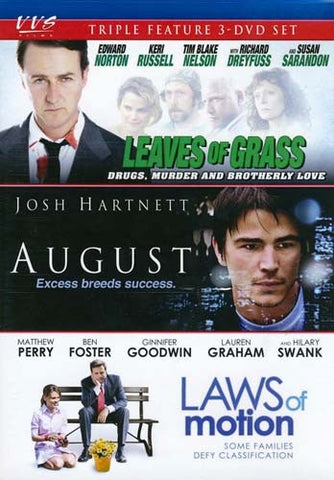 Leaves of Grass / August / Laws of Motion (Triple Feature) (Boxset) DVD Movie