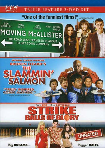 Moving McAllister / Slammin  Salmon / Strike - Balls of glory (Triple Feature) (Boxset) DVD Movie