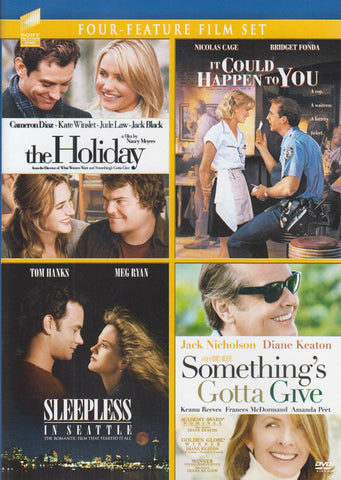The Holiday/It Could Happen to You/Sleepless in Seattle/Somethings Gotta Give (4 Feature Film Set) DVD Movie
