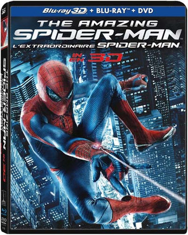 The Amazing Spider-Man 3D (Blu-ray 3D+Blu-ray+DVD) (Bilingual) (Boxset) (Blu-ray) BLU-RAY Movie
