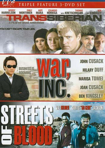 Transsiberian / War Inc. / Streets of Blood (Triple Feature) (Boxset) DVD Movie