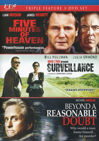 Five Minutes of Heaven / Surveillance / Beyond a Reasonable Doubt (Triple Feature) DVD Movie