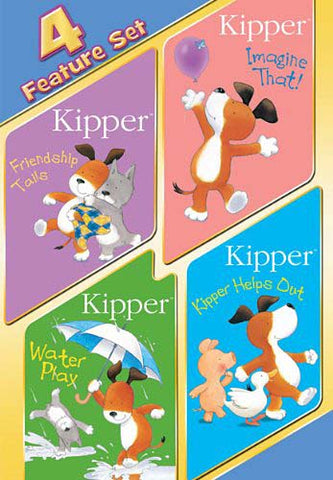 Kipper 4 Feature Set (Friendship Tails / Imagine That! / Water Play / Kipper Helps Out) DVD Movie