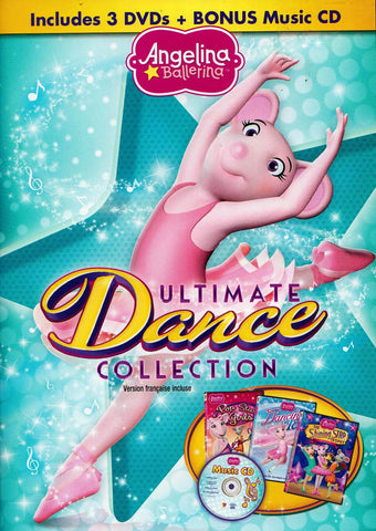 Angelina Ballerina - Ultimate Dance Collection (3 DVD + BONUS Music CD) (Bilingual) DVD Movie