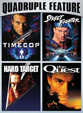 Van Damme Action Pack Quadruple Feature (Timecop / Hard Target / Street Fighter / The Quest) DVD Movie