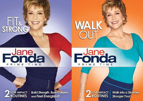 Jane Fonda Prime Time Fit and Strong/ Prime Time Walk Out (2 Pack) (Boxset) DVD Movie