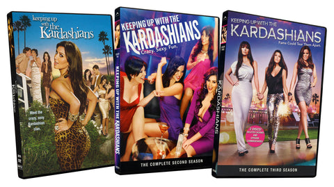 Keeping up with the Kardashians Complete DVD Set: Seasons 1, 2 and 3 (3 Pack) (Boxset) DVD Movie