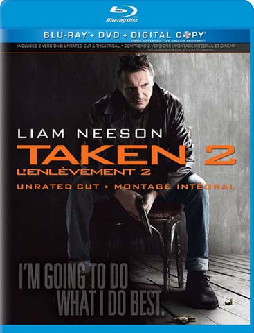 Taken 2 (Unrated Cut)(Blu-ray+DVD+Digital Copy) (Bilingual) (Blu-ray) BLU-RAY Movie