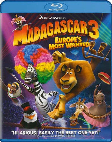Madagascar 3 Europe's Most Wanted (Blu-ray) BLU-RAY Movie