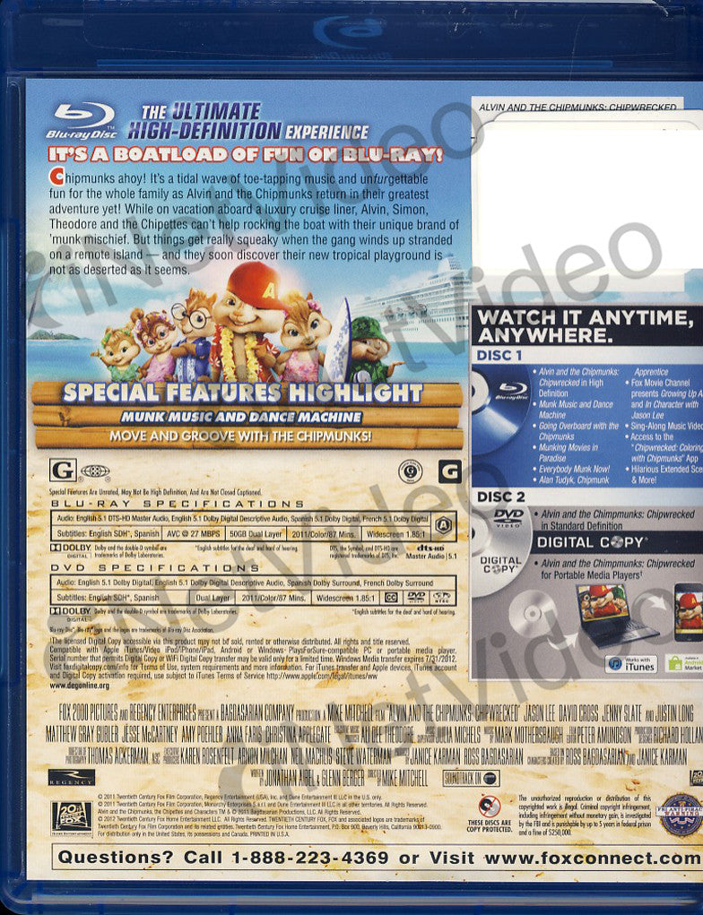 Alvin And The Chipmunks 3 Images alvin and the chipmunks 3 - chipwrecked (blu-ray/dvd/digital