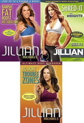 Jillian Michaels-(Banish Fat, Boost Metabolism/No More Trouble Zones /Shred-It..)(3 Pack)(Boxset)