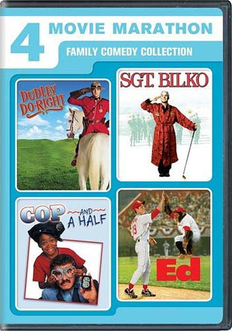 4 Movie Marathon Family Comedy Collection (Dudley Do-Right/Sgt. Bilko/Cop and a Half/Ed)(Bilingual) DVD Movie