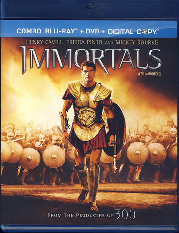 Immortals (Blu-ray+DVD+Digital Copy) (Blu-ray) BLU-RAY Movie
