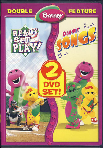 Barney (Ready Set Play!/Barney Songs) (Double Feature) DVD Movie