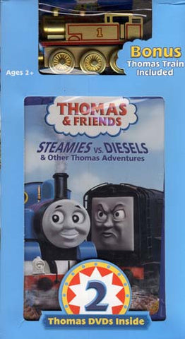 Thomas and Friends: Steamies vs Diesels / Calling all Engines (With Toy Train) (Boxset) DVD Movie