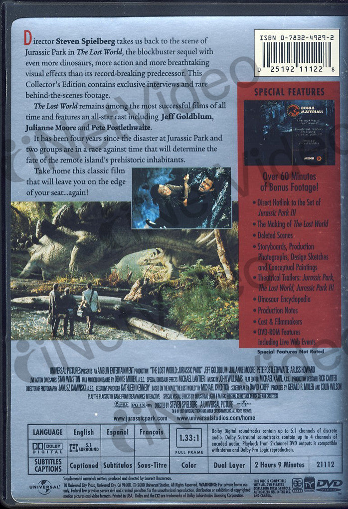 Jurassic Park - The Lost World - Collector's Edition (Full ...