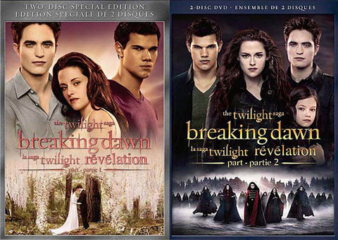 Twilight - Breaking Dawn Part 1 / Breaking Dawn Part 2 (2 Pack) (Boxset) DVD Movie