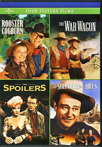 Rooster Cogburn / The War Wagon / The Spoilers (1942) / Shepherd of the Hills DVD Movie
