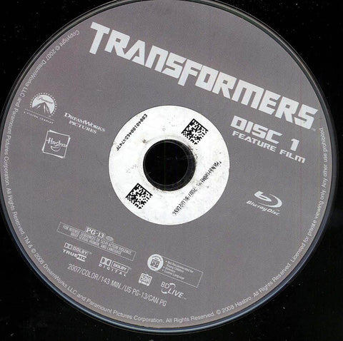 Transformers (Blu-ray) (Disc Only) BLU-RAY Movie