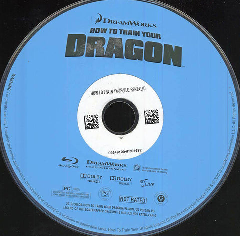 How to Train Your Dragon (Blu-ray) (Disc Only) BLU-RAY Movie