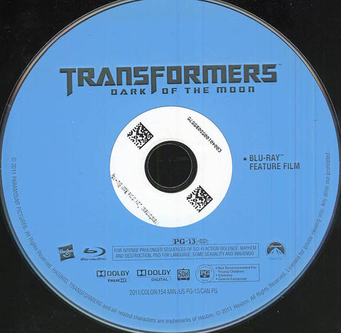 Transformers: Dark of the Moon (Blu-ray) (Single Disc) (Disc Only) BLU-RAY Movie