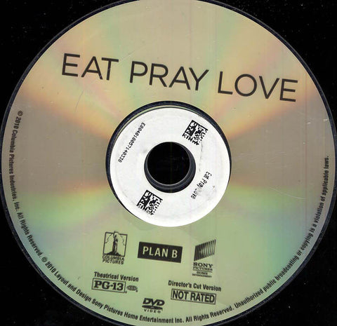 Eat Pray Love (Disc Only) DVD Movie