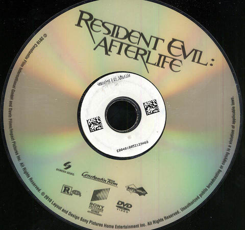 Resident Evil: Afterlife (Disc Only) DVD Movie
