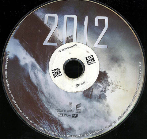 2012 (Disc Only) DVD Movie