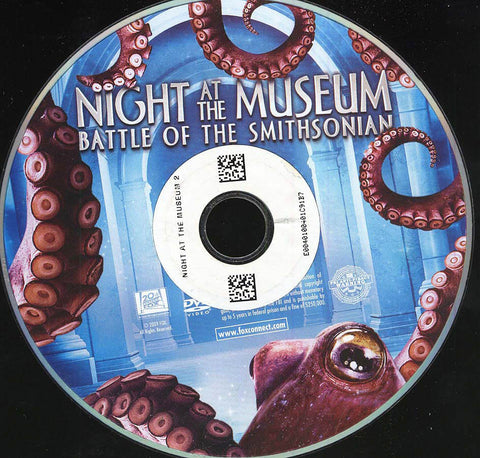 Night at the Museum: Battle of the Smithsonian (Disc Only) DVD Movie