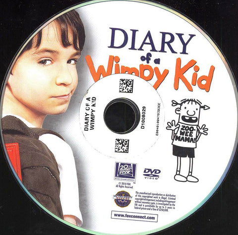 Diary of a Wimpy Kid (Disc Only) DVD Movie