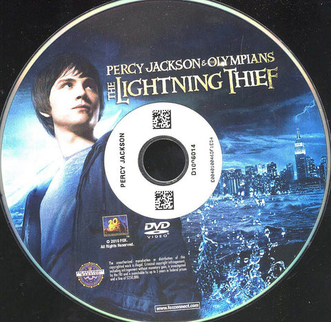 Percy Jackson & The Olympians: The Lightning Thief (Disc Only) DVD Movie