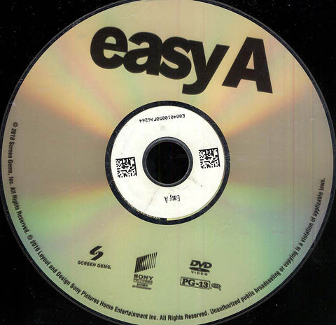 Easy A (Disc Only) DVD Movie