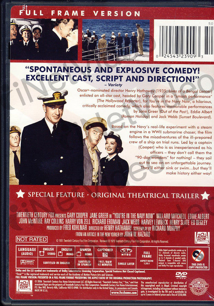 ... You re in the Navy Now(Full Frame) DVD Movie