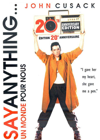 Say Anything (20th Anniverary)(Un Monde Pour Nous)(Bilingual) DVD Movie