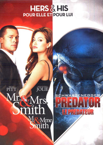 Mr. and Mrs. Smith / Predator (His and Hers) (Bilingual) DVD Movie