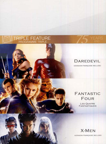 Daredevil/Fantastic Four/X-Men (Fox Triple feature) (boxset) DVD Movie