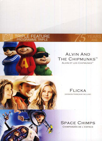 Alvin and the Chipmunks /Flicka /Space Chimps (Fox Triple Feature) (Bilingual) (Boxset) DVD Movie
