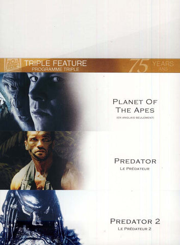 Planet of the Apes/Predator/Predator 2 (Fox Triple Feature) (Bilingual) (boxset) DVD Movie
