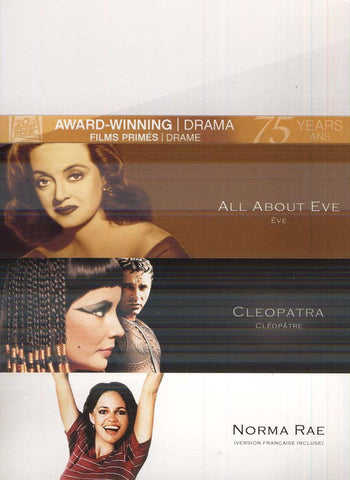 All About Eve/Cleopatra/Norma Rae (Award Winning) (Bilingual) (Boxset) DVD Movie