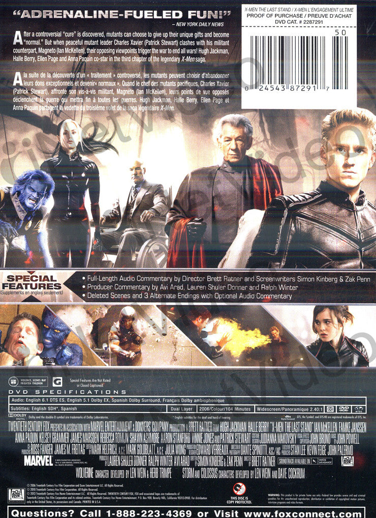 X-Men 3 - The Last Stand (Widescreen)(New Black Cover