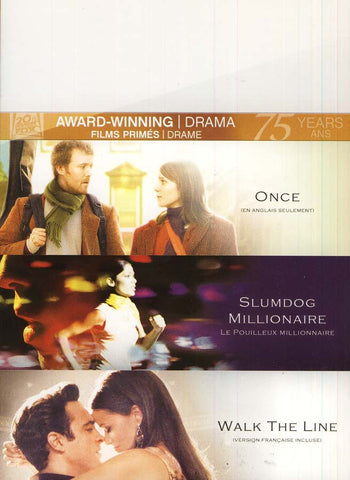 Once/Slumdog Millionaire/Walk The Line (Fox Award Winning Collection) (Bilingual) (Boxset) DVD Movie