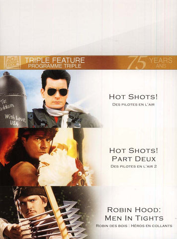 Hot Shots/Hot Shots Part Deux/Robin Hood Men In Tights (Fox Triple Feature)(boxset) DVD Movie