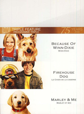Because of Winn-Dixie/Marley And Me/Firehouse Dog (Fox Triple Feature) (Boxset) (Bilingual) DVD Movie
