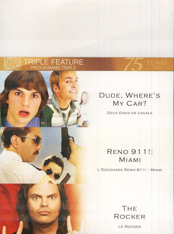 Dude Wheres My Car?/Reno 911 Miami/The Rocker (Fox Triple Feature)(boxset) DVD Movie