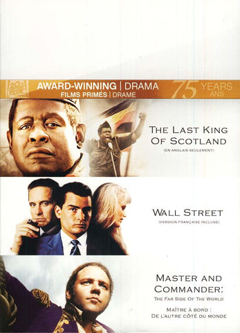 The Last King of Scotland/Wall Street/Master and Commander (Bilingual) (Boxset) DVD Movie