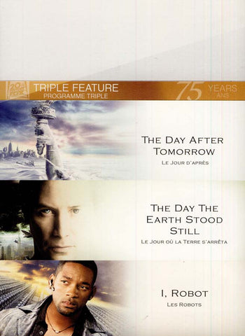 The Day The Earth Stood Still / The Day After Tomorrow / I, Robot (Bilingual) (Boxset) DVD Movie