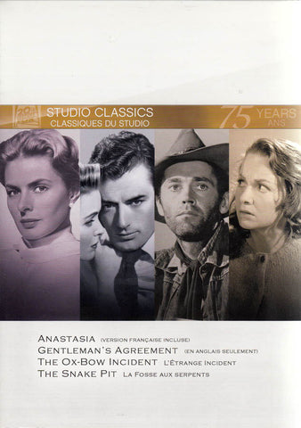 Anastasia / Gentleman s Agreement / Ox-Bow Incident / Snake Pit (Fox Studio Classics) (Boxset) (Bili DVD Movie