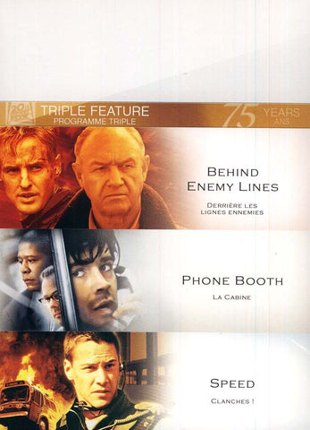 Speed/Phone Booth/Behind Enemy (triple feature)(boxset) DVD Movie