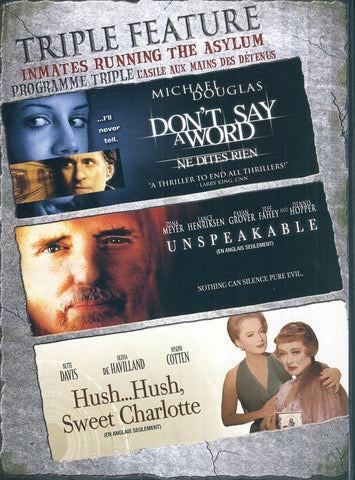 Don't Say A Word (Ne Dites Rien) / Unspeakable / Hush..Hush Sweet Charlotte (Boxset) (Bilingual) DVD Movie