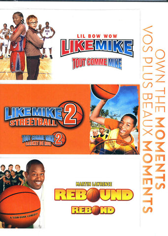 Like Mike (Tout Comme Mike) / Like Mike Streetball 2 / Rebound (Bilingual) DVD Movie